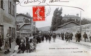 1905-1910 - Sortie des Usines Fives Lille à Givors